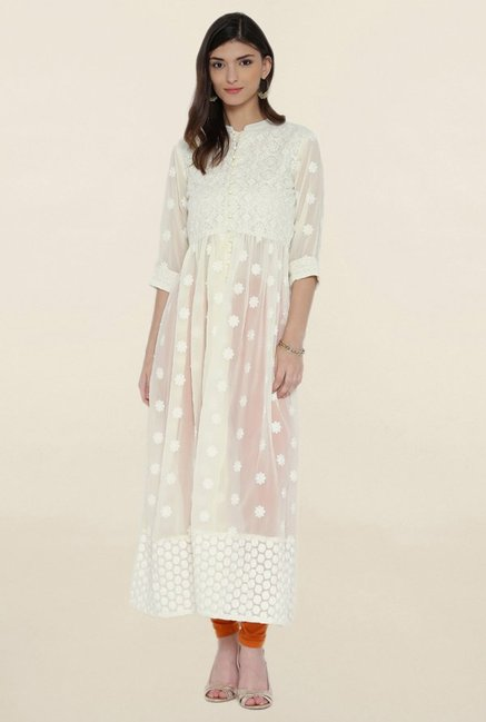 Shree Cream Embroidered Kurta