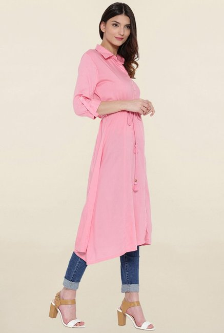 Shree Pink Solid Kurta