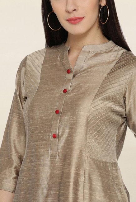Shree Beige Textured Kurta