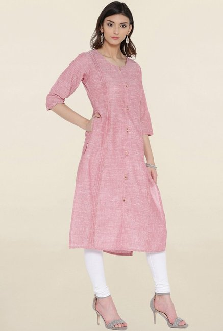 Shree Pink Textured Kurta