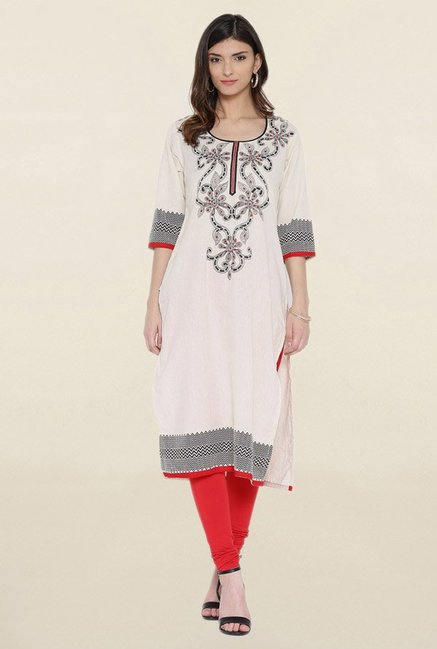 Shree Off White Printed Kurta