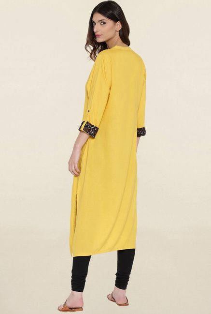 Shree Yellow Solid Kurta