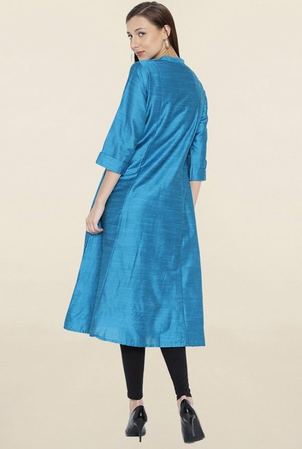 Shree Blue Textured Kurta