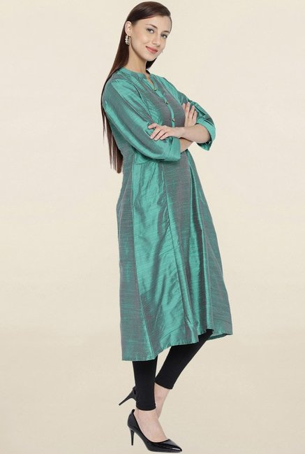 Shree Green Textured Kurta