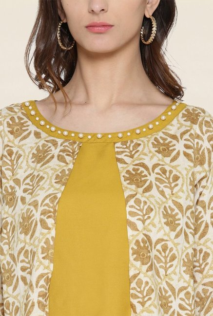 Shree Mustard Printed Kurta