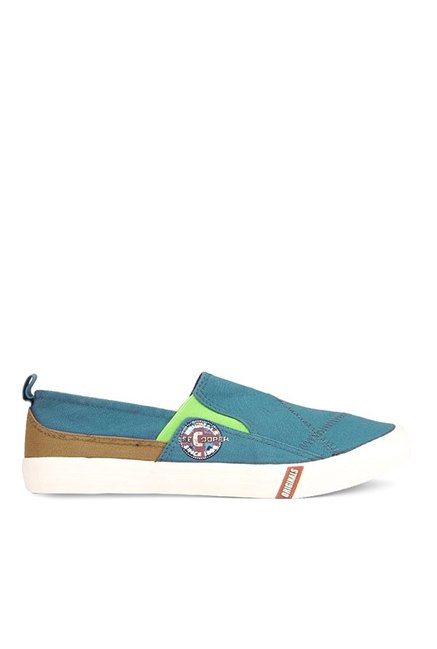 Lee Cooper Blue & Brown Slip-Ons