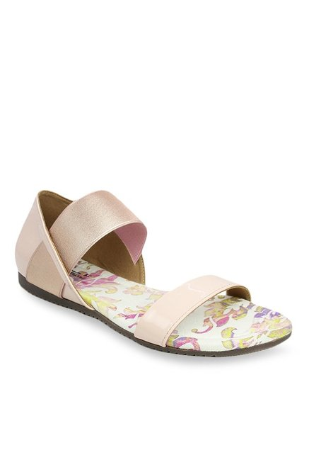 322282aeadb8 Buy Inc.5 Nude   Rose Gold Ankle Strap Sandals for Women at Best ...