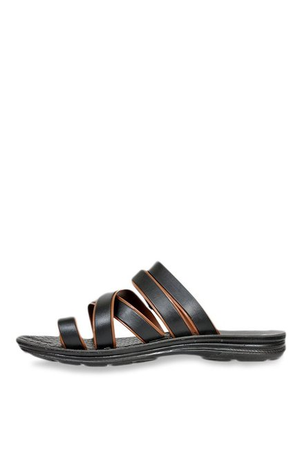 Allen Cooper Black Toe Ring Sandals