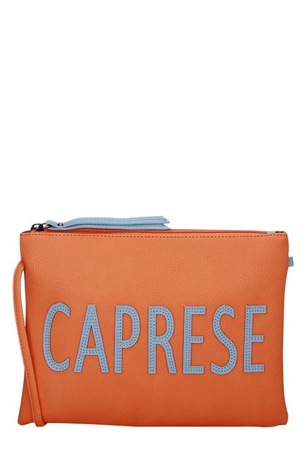 Caprese Florentine Orange Solid Sling Bag