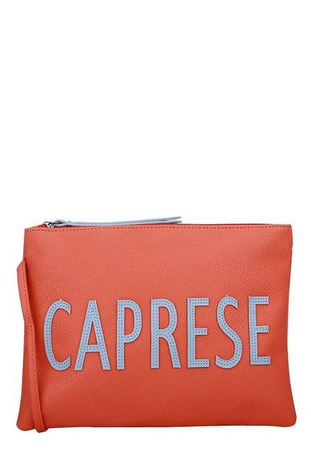 Caprese Florentine Coral Pink Solid Sling Bag