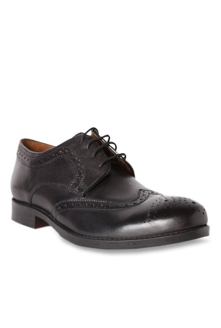 29984d50ff7 Buy Van Heusen Black Brogue Shoes for Men at Best Price   Tata CLiQ