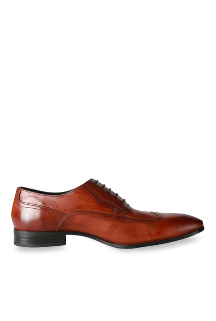 38a894682 Buy Louis Philippe Dark Tan Oxford Shoes for Men at Best Price   Tata CLiQ