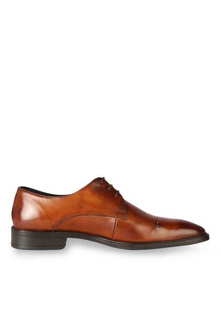 ec64208d12f Buy Van Heusen Tan Derby Shoes for Men at Best Price   Tata CLiQ