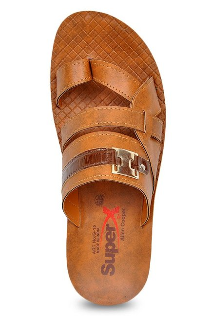 Allen Cooper Tan Toe Ring Sandals