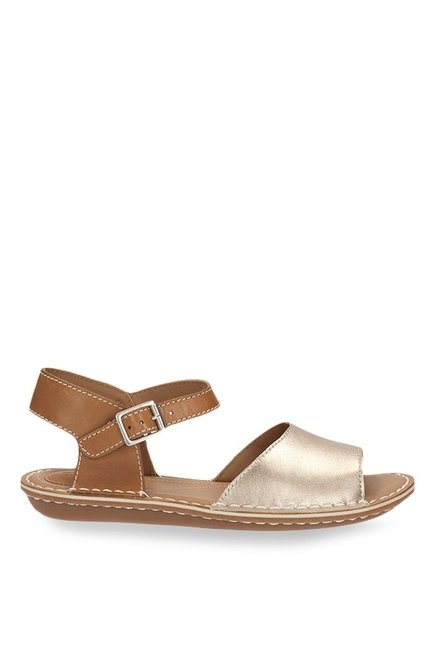 22c98571ada42 Buy Clarks Tustin Sinitta Golden   Tan Ankle Strap Sandals for Women ...
