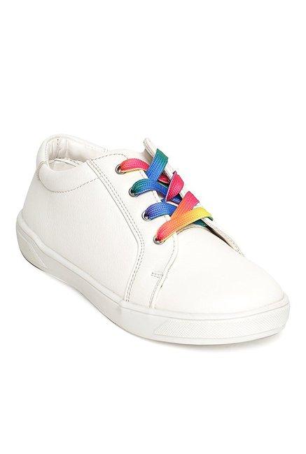 Bruno Manetti Kids White Casual Sneakers