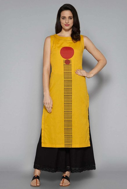 Utsa by Westside Yellow Dash Kurta