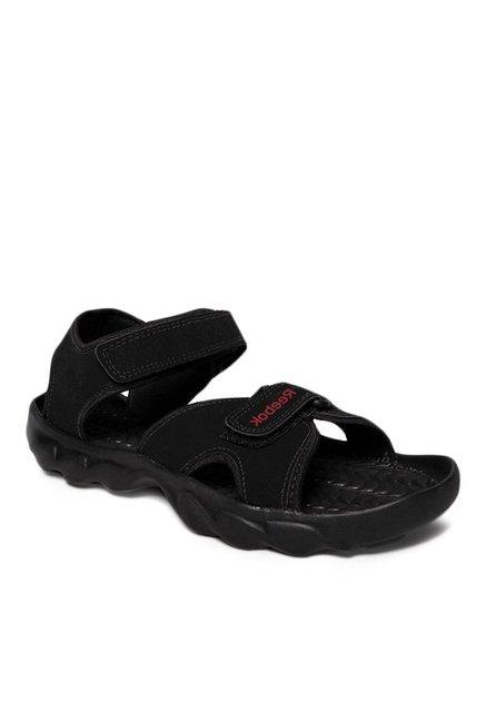 0acec460afb7 Buy Reebok Black Floater Sandals for Men at Best Price   Tata CLiQ
