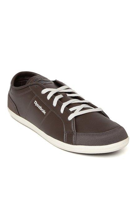 96ae18b28 Buy Reebok Dark Brown   White Sneakers for Men at Best Price   Tata CLiQ