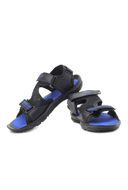 Adidas Black & Blue Floater Sandals