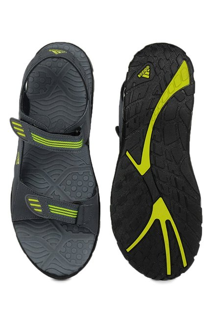 Adidas Scorio Dark Grey & Green Floater Sandals