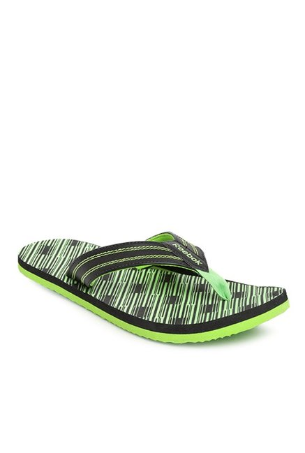 0bde9bae8 Buy Reebok Black   Green Flip Flops for Men at Best Price   Tata CLiQ
