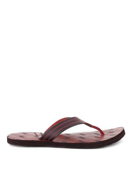 e88b49287af3 Buy Reebok Black   Red Flip Flops for Men at Best Price   Tata CLiQ