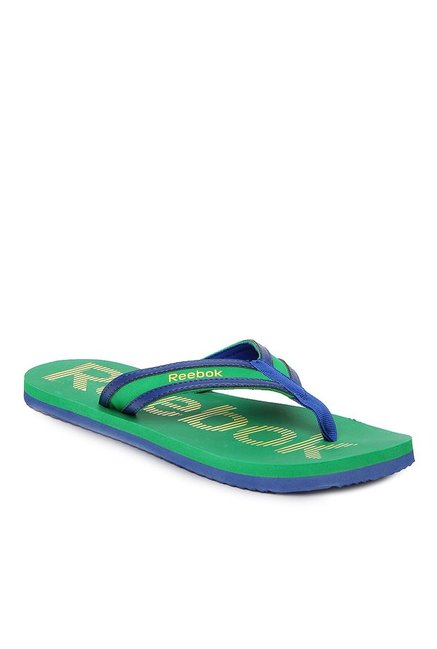32dd90fe1 Buy Reebok Green   Navy Flip Flops for Men at Best Price   Tata CLiQ