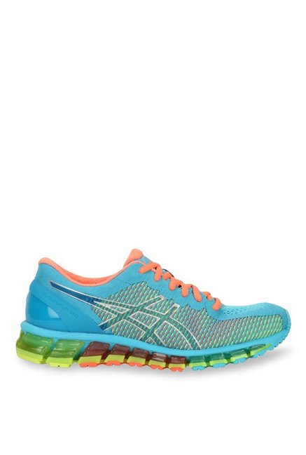 the latest 208ec 79eb2 Asics Gel-Quantum 360 2 Sky Blue   Green Running Shoes