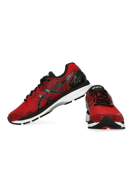 Buy Asics Gel-Nimbus 18 Red   Black Running Shoes for Men at Best ... 39de4a3fb
