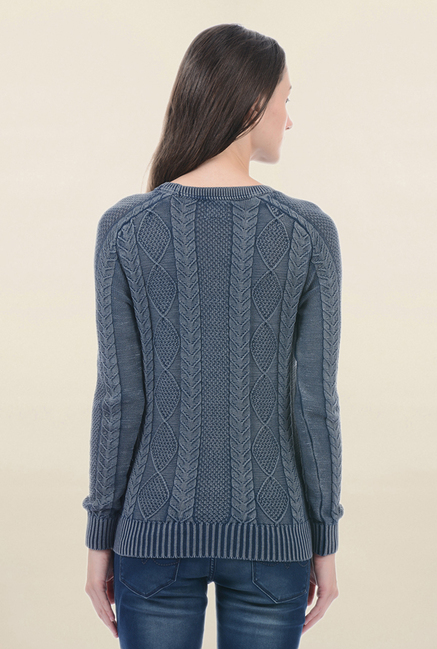 Pepe Jeans Grey Crochet Sweater