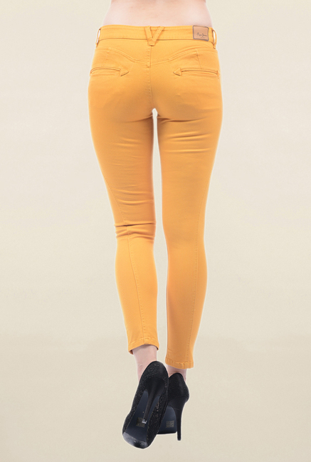 Pepe Jeans Mustard Slim Fit Low Rise Jeans