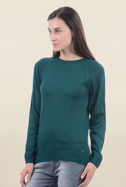 Pepe Jeans Teal Regular Fit Sweater