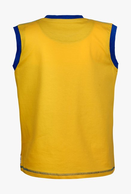 ac7765a1b9b Buy Gini   Jony Yellow Printed Sando for Boys Clothing Online   Tata ...