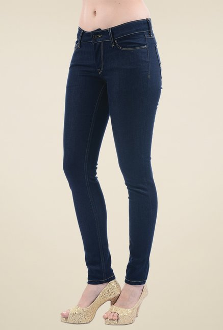Pepe Jeans Dark Blue Low Rise Jeans