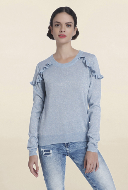 Only Blue Textured Sweater