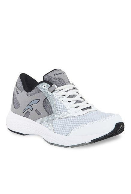 Furo by Red Chief White & Grey Running Shoes