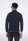 Basics Navy High Neck Casual Jacket