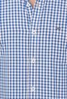 Basics Blue Gingham Checkered Shirt