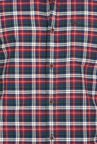 Basics Burnt Red Checkered Shirt