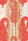 Soch Off White & Red Paisley Cotton Kurti