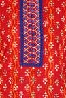 Soch Red & Royal Blue Cotton Kurta