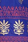 Soch Royal Blue & Pink Printed Cotton Kurta