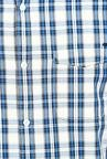 Basics White And Blue Checks Cotton Casual Shirt