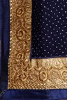 Soch Navy & Gold Chiffon Saree