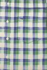 Peter England Green Checks Casual Shirt