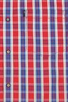 Peter England Red & Blue Casual Shirt