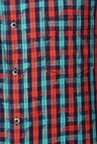 Peter England Red & Navy Checks Casual Shirt