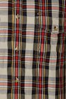 Peter England Red & Black Checks Casual Shirt