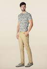 Peter England Beige Slim Fit Chinos